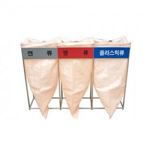 D-36-2 스텐 분리수거함-마대,비닐걸이 /3종류,100L