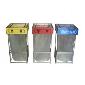 D-17-B 투명 비닐걸이 덮개용 분리수거함(테러방지) /1종분류 100L