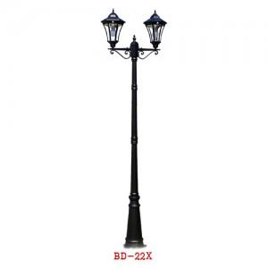 BD-22X LED 태양열 정원등 2등 2.5M무선 산책로 거로등 벤치등 공원등