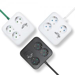 러그(LUG) CUBE 사각 2포트 USB 멀티탭 3구