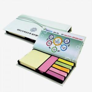하드커버 점착 메모함 (대001-80매)시므영 무지 실용적인 실속있는 접착메모 점착 포스트잇 메모잇