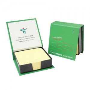 하드커버 점착 메모함 (소005-200매)실용적 사무용 사무실 크라프트지 포스트잇 메모잇
