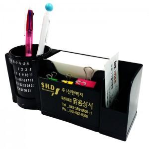 카렌다/달력 (만년캘린더)명함 펜꽂이 메모함-먹색멀티 다용도 사무용 연필꽂이 실용적인 책상정리 사무용