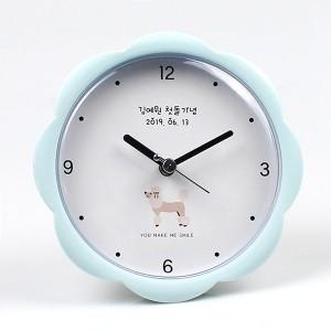 강아지 플라워 흡착시계