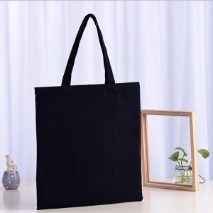 무지 블랙 캔버스백 에코백 32x35cm
