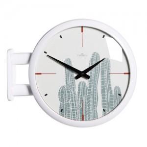 모던 양면벽시계 - 선인장(화이트) /Morden Double Clock Cactus(WH)