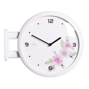 모던 양면벽시계 - 플라워(화이트) /Morden Double Clock Flower(WH)