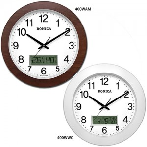 로니카 우드와이드 온도계 습도계 시계 R400WAM