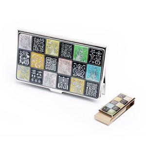 자개 명함케이스 + USB 8G 2종세트(사군자수복문)