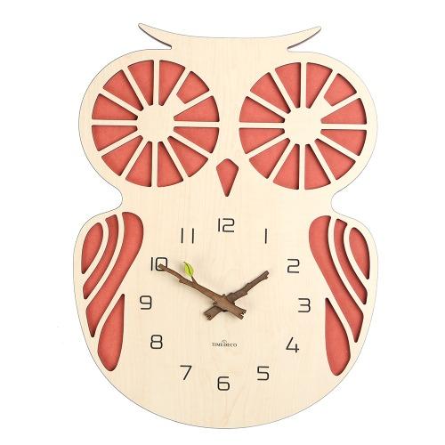 부엉이 레드 (Owl Red Clock)