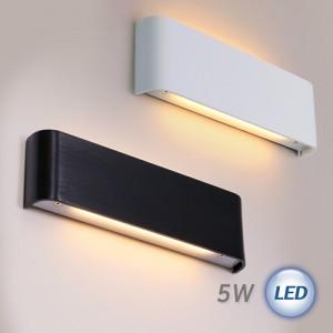 LED 몰드 벽등 5W (블랙/화이트)