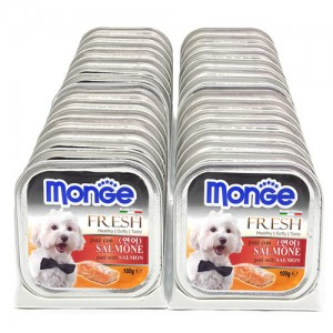 [BOX32개입] Monge 몬지 강아지사각캔 100g 연어가격:48,000원