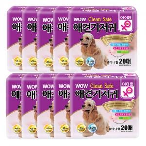 [10개세트]와우 크린세이프 애견기저귀 20매 (여아/초미니형)가격:120,000원