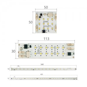 LED PCB 모듈 4종 220V 5W / DC24V 5W (LSM100,LRM100,LBM100,LBM200)