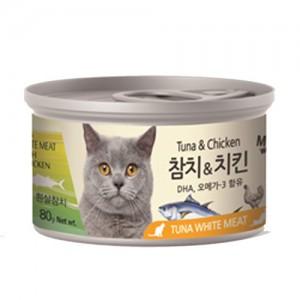 [BOX24개입] 미우와우 흰살참치 고양이캔 80g 치킨가격:36,000원