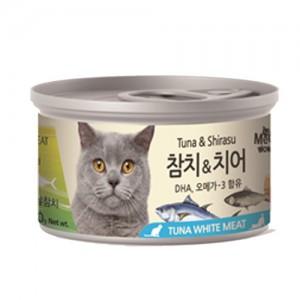 [BOX24개입] 미우와우 흰살참치 고양이캔 80g 치어가격:36,000원