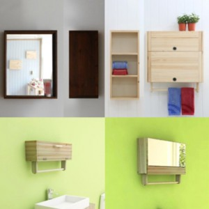 후니요 원목 생활가구 프리미엄 원목 욕실장 욕실수납장 욕실거울 시리즈