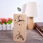 원목 무소음 나무시계 신형 탁상시계