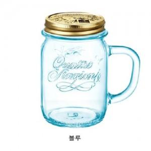 보르미올리 드링크자 450ml 블루테이블웨어 유리컵 드링크자 유리병 아이스잔 카페머그 유리병