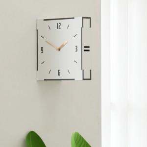 화이트 우드 양면 벽시계 (White Wood Double Clock)