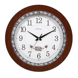 아래꽃실버벽시계