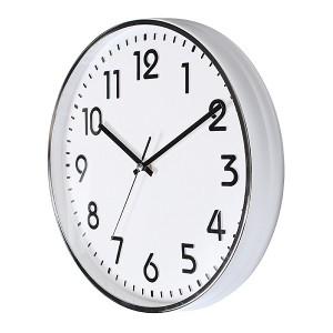 입체숫자벽 금속크롬벽시계300