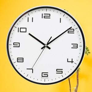 금속크롬벽시계260