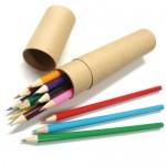 12본입 나무 색연필 원통 세트