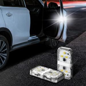 차량용 도어 오픈 경고등 2개세트 도어 램프