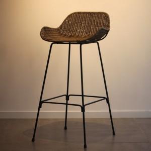 라탄의자 발리 카페 홈바 1인용안락의자 바의자 M