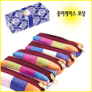 누비 도장 지갑(색동)