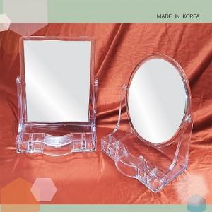 투명 사각 양면탁상거울(ST404,405)