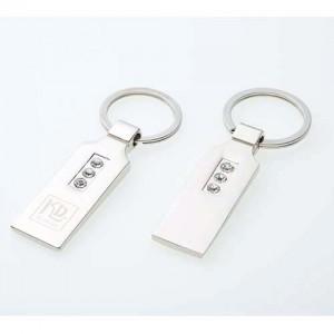 메탈 직사각 큐빅 열쇠고리
