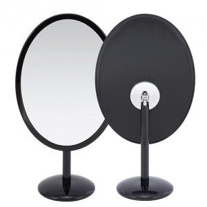 ST-413 심플 타원 탁상거울 블랙