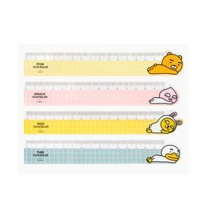 [카카오프렌즈] 방안자 15cm문구용품 사무용품 측정도구 캐릭터 귀여운 플라스틱자