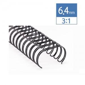 3:1 제본기 와이어 6.4mm(30매)/100개/34홀