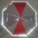 55어린이반사띠우산 발광우산발간우산 빨강우산
