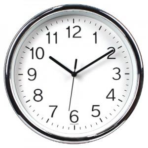 250라운드크롬벽시계