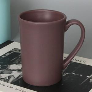 랑스 무광롱머그 버건디브라운주문제작 머그잔 도자기머그컵 물컵 카페머그컵