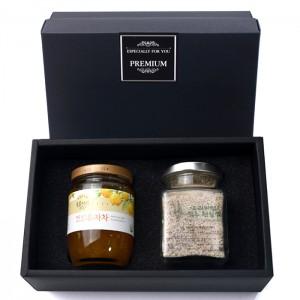 복음자리 유자차1P + 고서임 프리미엄 소금1P 선물세트