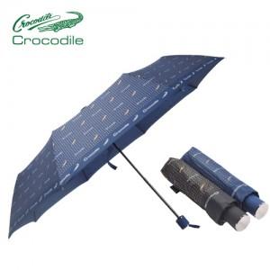 크로커다일 3단로고도트우산