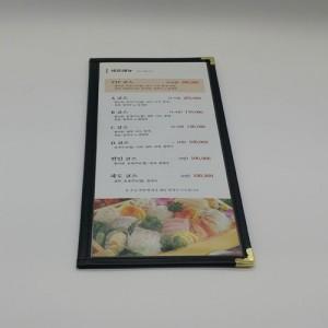 DS투명 메뉴북 블랙(중)