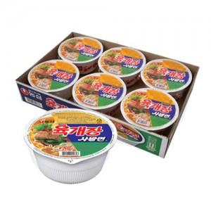 농심 육개장 사발면 6개 / 1box가격:6,586원