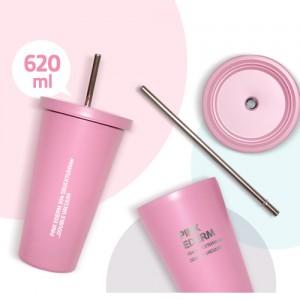 핑크 에덤 304 스벅텀블러 620ml _이중진공