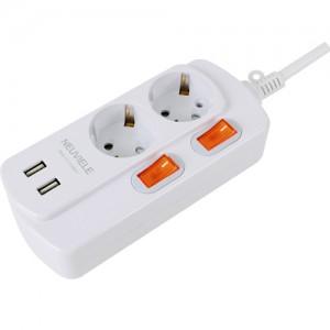 뉴빌레 USB 개별멀티탭 2구 1.5m (1박스 30개)