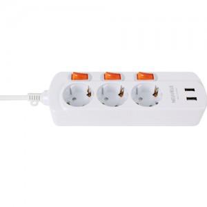 USB 개별 멀티탭 콘센트 3구 (1박스 30개) 1.5m