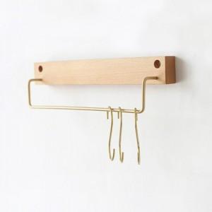 P50246 우드 수건걸이(30cm) - 베이지