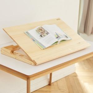 보조책상 각도조절 800 소나무 무광NC코팅 필기 독서대