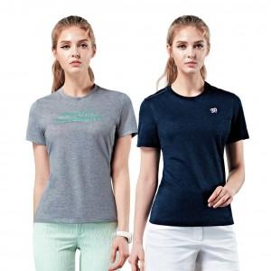 WILSON 스판 반팔 라운드 티셔츠