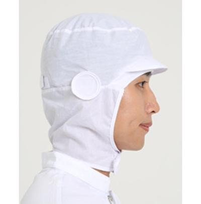 턱덮개 마스크걸이 위생모 (화이트/하늘)